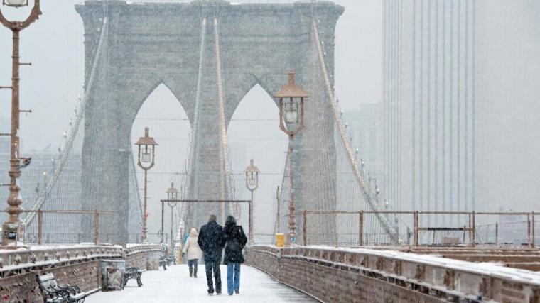 bk bridge snow